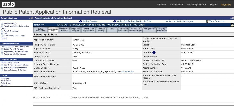 USPTO Patent Application